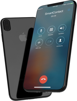 smartcontact phone call on smartphone